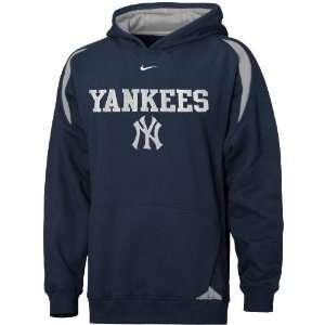 Yankees Navy Blue Youth Pass Rush Hoody Sweatshirt