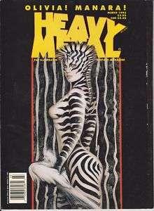 MARCH 13, 1995 *HEAVY METAL* MAGAZINE ZEBRA WOMAN J