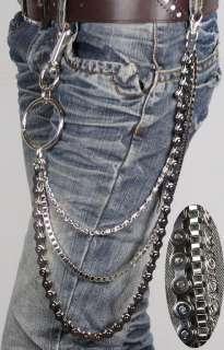 Mens Metal WAIST CHAIN Belt Gothic Punk Rock va063