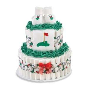 Peachtree Layette Diaper Cake LCGOL2T Two Tier Golf Theme: Baby