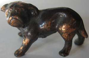 VINTAGE COPPER BULLDOG DOG DIMENSIONAL FIGURINE