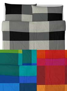 IKEA Brunkrissla Duvet Quilt Cover Set FULL QUEEN BLACK RED OR BLUE