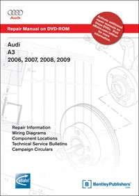 audi a3 dvd service repair manual 2006 2009 bentley publishers part