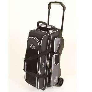 Linds Deluxe 3 Ball Roller Bowling Bag  Black/Silver