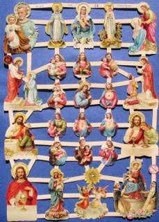 New Victorian Scrap Mary Jesus Religious Christmas