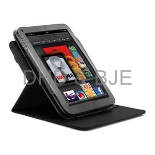 PU Leather Stand Case Cover for  2011 Kindle Fire Screen Guard