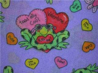 New Valentines Day Frog Love Hearts Fabric BTY