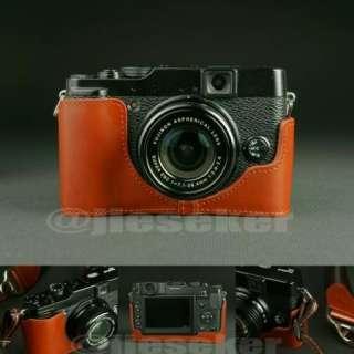 real COW leather half case bag cover for FUJI FUJIFILM LC  X10 Camera
