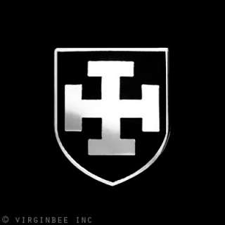 GERMAN CROSS INSIGNIA BLACK SHIELD CRUSADERS ARMY MEDIEVAL TEUTONIC