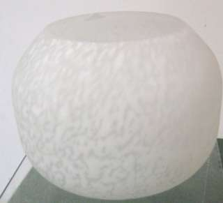 . Frosted Milk White Satin GWTW Torchier Glass Lamp Light Globe Shade