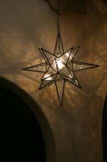 Moravian 24 Clear WATER Glass Star light / lamp