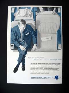 Weber Aircraft Airliner Airplane Seating Seats 1956 print Ad