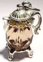 Vintage Sterling Silver CRYSTAL SET COFFEE POT Charm