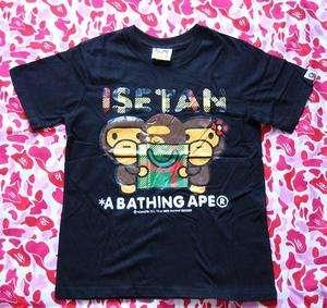 Supreme Bapes Ape Baby Milo Nigo Kaws Family Tee Shirt ~Black~ Size