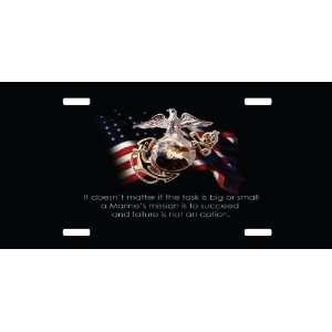 Custom License Plate USMC United States Marine Corp