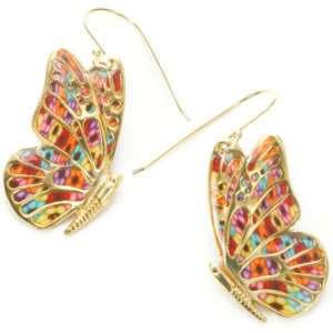 Butterfly Wing Jewelry 18k Gold Silver Dangle Earrings