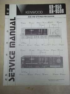 Vtg Kenwood Service/Repair Manual~KR 950/950B Receiver~Original