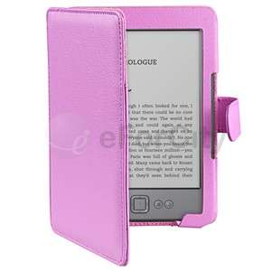 Leather Skin Case Cover Wallet Pouch For  Kindle 4 6 inch