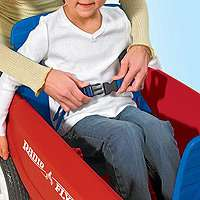 safe riding seatbelts let you strap little ones in to ensure a safe