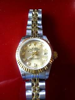 LADIES ROLEX OYSTER PERPETUAL DATE JUST JUBILEE TWO TONE Datejust