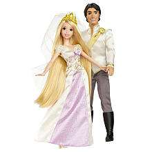 Disney Rapunzel and Flynn Wedding Doll Set   Mattel