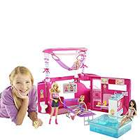 Barbie Sisters Go Camping Pop Up Camper   Mattel