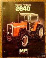 Massey Ferguson MF 2640 Tractor Sales Brochure book
