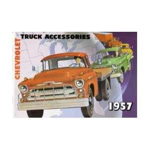1957 CHEVROLET TRUCK Accessories Sales Brochure Book