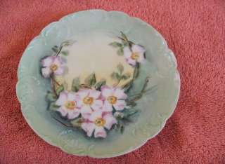 Antique Hand Painted Floral China Plates Limoges Fran