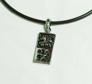 Mens/Womens Clover Pendant Leather Necklace LN07
