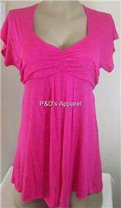 New Womens Maternity Clothes Pink Shirt Top Blouse S M L XL