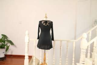 Motherhood Maternity Elegant Lace Back Design Dress Large Skirt #25
