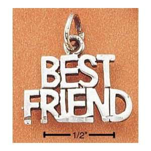 Sterling Silver Best Friend Charm Arts, Crafts & Sewing