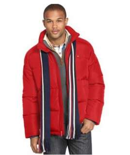 TOMMY HILFIGER Mens DOWN FEATHER WINTER SKI COAT JACKET + SCARF NWT $
