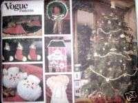 Vogue 2776 OOP Christmas Stocking Angel Skirt Pattern