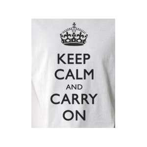 Keep Calm and Carry On (b/w)  Pop Art Graphic T shirt (Men