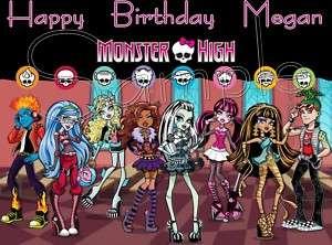 Monster High Frosting Sheet Edible Cake Topper |