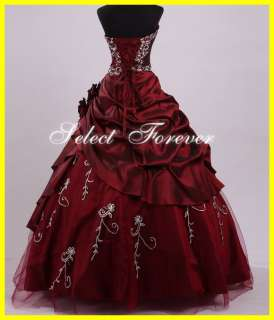 Stock A line Sweet 15 16 Beads Prom Quinceanera Gowns Dresses