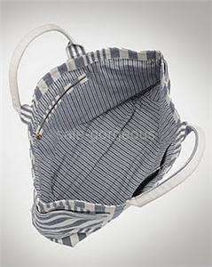 nwt marc by marc jacobs peace work stripe canvas tote bag blue white