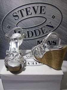 WOMENS STEVE MADDEN P VANS WEDGE HEELS