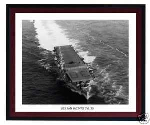 USS SAN JACINTO CVL 30 Naval Ship Photo Print, USN Navy