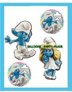 Smurfette Clumsy balloons birthday baby shower supplies 4 new