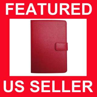 Nook Color Genuine Leather Cover Case RD
