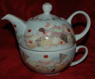 Paul Cardew Cupcakes & Cookies Tea for One **Teapot and Tea Cup