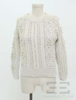 Isabel Marant Beige Bobble Knit Sweater Size 1
