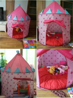palace kids baby play tent castle child prince PRINCESS Pink cubby