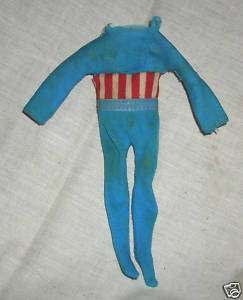 MEGO Captain America WGSH 8 Suit Clothes Uniform