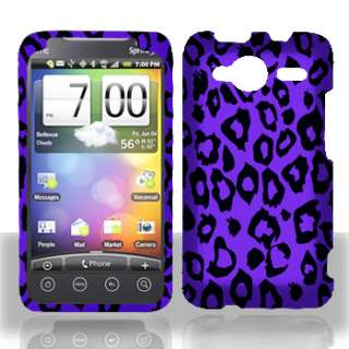 HTC Evo Shift 4G Purple Leopard Hard Phone Cover Case