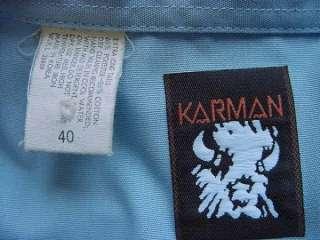 Fab KARMAN Blue EMBROIDERED Western Shirt Long 40