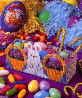 EASTER BUNNY BASKET plastic canvas pattern